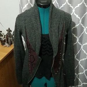 BKE zipper cardigan sweater